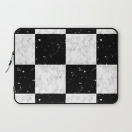 Elegant black white marble Laptop Sleeve
