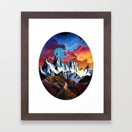 Moon Dog Framed Art Print