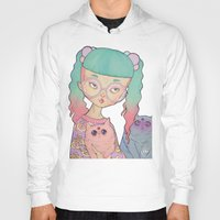 loll3 Hoodies featuring Cat Lady by lOll3