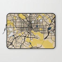 Baltimore Yellow City Map Laptop Sleeve