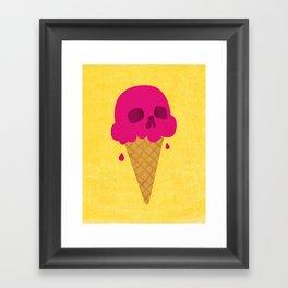 Skull Scoop. Framed Art Print