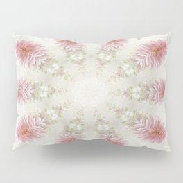 Pink Chrysanthemums Kaleidoscope Art 2 Pillow Sham