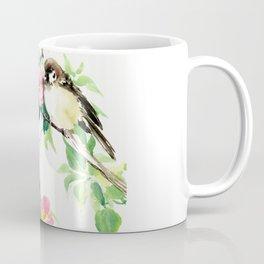 Sparrows and Apple Blossom Coffee Mug