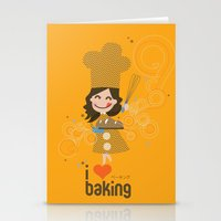 baking Stationery Cards featuring Baking MaMa by inkdesigner