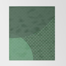 Green creative Throw Blanket