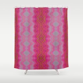 Pink Symmetry Shower Curtain