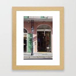 New Orleans Lampost on Royal Framed Art Print