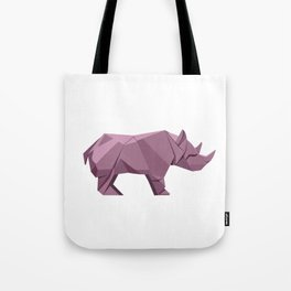Origami Rhino Tote Bag