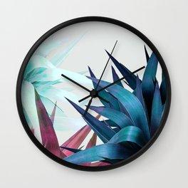 Tropical Leaves, Botanical Wall Clock