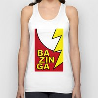 bazinga Tank Tops featuring Bazinga by Bazingfy
