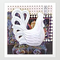 French country Rooster Art Print