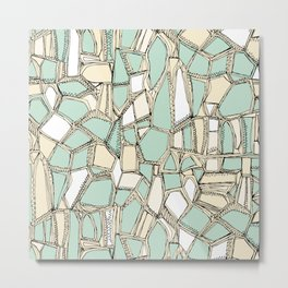 BROKEN POP mint Metal Print