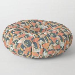 Mushrooms and snails Floor Pillow