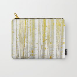 Gold Birch Forest Carry-All Pouch
