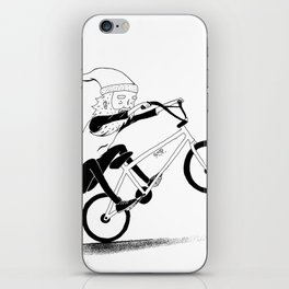 bmxsanta iPhone Skin
