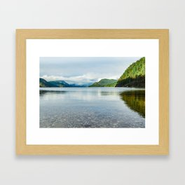 Powell Lake Framed Art Print