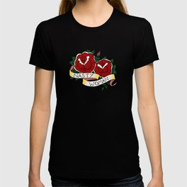 Nasty Woman and Roses Tattoo Flash T-shirt