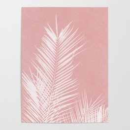 Palm Leaves on Pink II Poster