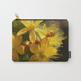 Turkish St Johns Wort Wild Flower Vector Image Carry-All Pouch