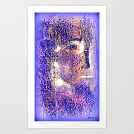 Caustic Blue Art Print