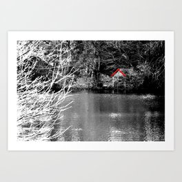 The boat shed. Art Print