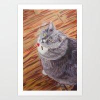 sasha grey Art Prints featuring Sasha by Michael Hammond