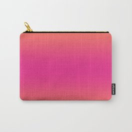 Coral Pink Ombre Gradient Pattern Orange Peachy Summer Soft Spring Texture Carry-All Pouch