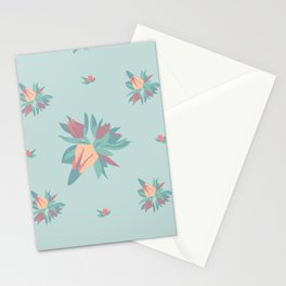 Succulent floral element & patterns Stationery Cards
