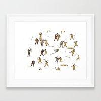 fight Framed Art Prints featuring Fight! by Joe Lillington