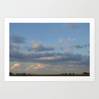 I can see for miles and miles... Art Print