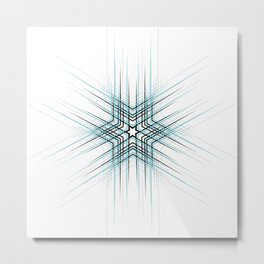 Blue Affiche Scandinave design, modern minimalist art Metal Print