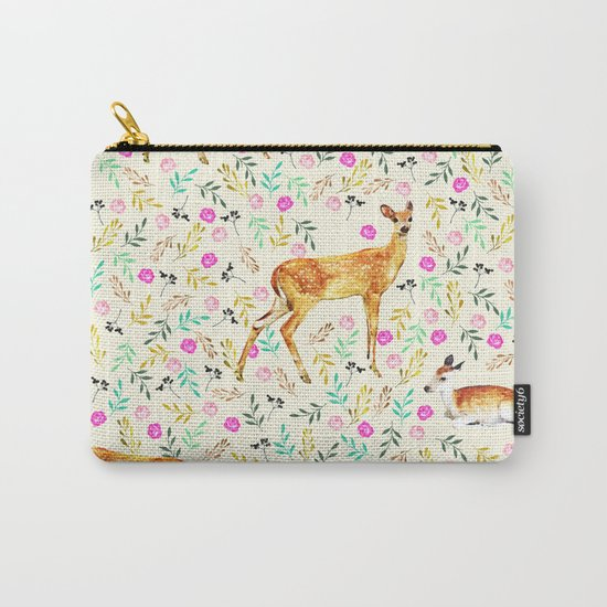 Deers #society6 #illustration #christmas Carry-All Pouch
