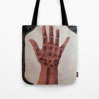 evil eye Tote Bags featuring Evil Eye by Tala Wakanda