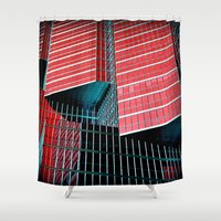 glass Shower Curtains featuring Glass by Lil Ugly Oracle