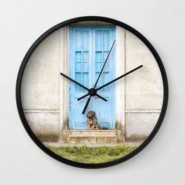 Waiting dog - Photography Wall Clock