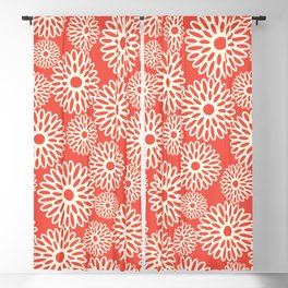 Flower Power in Red Blackout Curtain