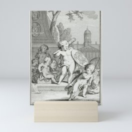 Putti practice painting and sculpture (ca. 1736–1779) by Cornelis Ploos van Amstel . Mini Art Print