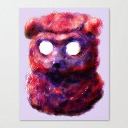 self-portrait as bear Canvas Print