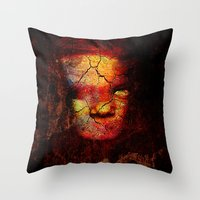 zombie Throw Pillows featuring Zombie by Ganech joe