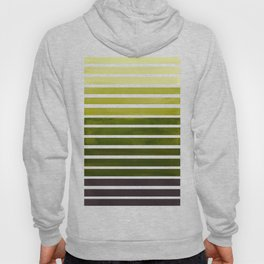 Watercolor Gouache Mid Century Modern Minimalist Colorful Olive Green Stripes Hoody
