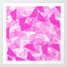 Pink Geo  Art Print