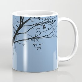 Silhouette Of Stalk Nest and Fledglings Vector Coffee Mug