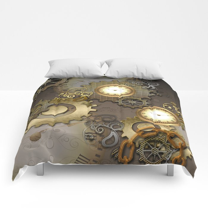 Abstract mechanical design Comforters