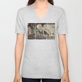 Takiyasha the Witch and the Skeleton Spectre Unisex V-Neck