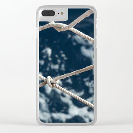 Nautical rope Clear iPhone Case