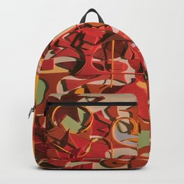The Flowering Sun- Fantasy Abstract Collage  Backpack
