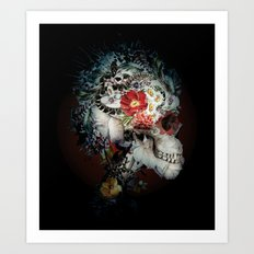 Skull I Black Series Art Print