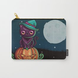 Ferociously Cute Halloween Vampire Witch Kitty Cat Carry-All Pouch