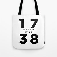 murakami Tote Bags featuring 1738 Fetty Wap by hypsterism