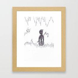 No More Running Framed Art Print